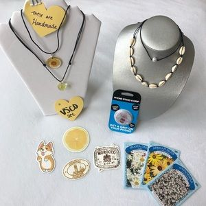 YELLOW VSCO Set: Necklaces, Stickers Set #1